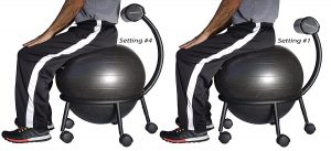 Isokinetics adjustable ball chair