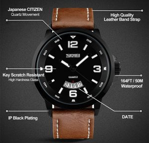 Aposon Leather Watch