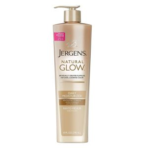 Jergens Natural-Glow Daily-Moisturizer for Body, Fair-to-Medium Skin-Tones, 10-Ounce Pump