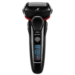 Forget electric razors that shave slowly, produce lots of noise, or are not suited for wet situations. With the Panasonic ES-LT3N-K Arc3 shaver, not only will it be easy to shave the beard but will also leave the skin safe and free of bruises or bumps. The unit is safe on different skin types and this is because of the 3-Blade design and Active Shave Sensor Technology. The simple looking piece is fit for both Wet and Dry shaving and can be used with gels or foam. It doesn't rust, corrode or lose its sharpness and beautiful appeal. For easy reach on contours, moving up and down, or sideways, the razor uses a superior 3D Multi-Flex Pivoting Head. The high-speed motor together with the durable lithium-ion battery will run nonstop for a long time. And to eliminate the mustache and sideburns, you also get a Pop-Up Trimmer.