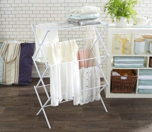 AmazonBasics Foldable White Drying Rack
