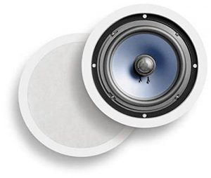 Polk Audio RC80i 8 inches In-Ceiling Round Speakers (White, Paintable Grille)