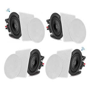 Pyle 6.5 inches Mount In-ceiling In-wall 4 Bluetooth Flush Speaker System