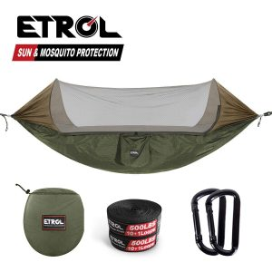 ETROL Upgraded 2 in 1 Large Camping Hammock with Mosquito Net