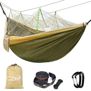 EZFULL Double Camping Hammock with Mosquito Net