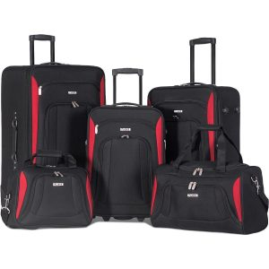 Flieks 5 Piece Luggage Set Deluxe Expandable Rolling Suitcase
