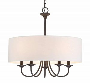 Kira Home Quinn Traditional 5-Light Chandelier Lighting, 21-inch