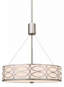 Kira Home Sienna 3-Light Metal Drum Chandelier Lighting