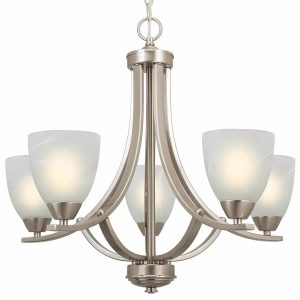 Kira Home Weston 5-Light Chandelier Lighting, 24-inch