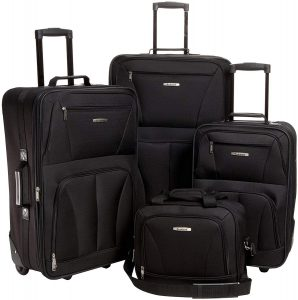 Rockland Luggage Skate Wheels 4 Piece Luggage Set