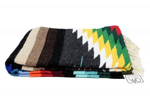 Open Road Goods Mexican Navajo Aztec Yoga Blanket with Stripes
