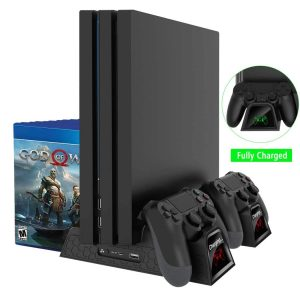 OIVO PS4 Pro Cooler/PS4 Slim/Regular PS4 Controller Charger