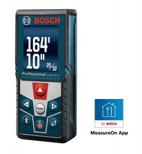 Bosch GLM 50 Laser Tape Measure with Colored Backlit Display