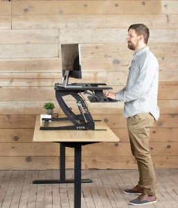 VIVO Black Height Adjustable Stand up Desk
