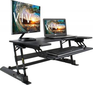 VIVO Height-Adjustable Standing Desk- fits Dual Monitor