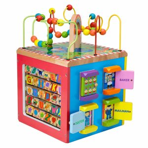 ALEX Toys Discover Wooden Activity Cube (My Busy Town)