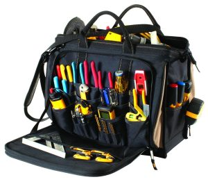 Custom LeatherCraft 1539 50 Pocket Multi-Compartment Tool Bag