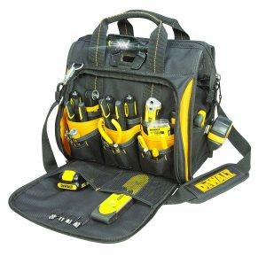 DEWALT DGL573 41 Pocket Lighted Tool Bag