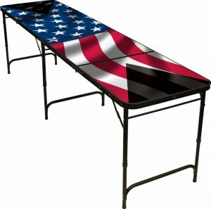 Red Cup Pong American Flag Beer Pong Table