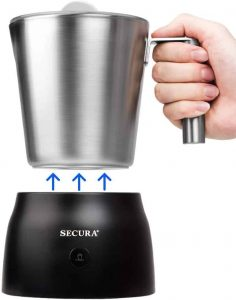 Secura 4 in 1 Hot Chocolate Maker and Automatic Milk Frother
