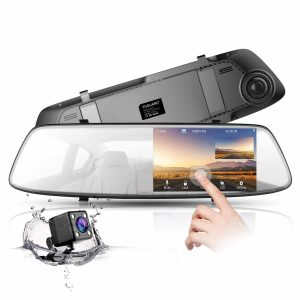 TOGUARD Backup Camera 1080P Touch Screen 4.3 inches