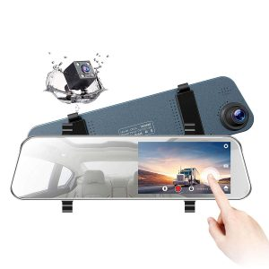 TOGUARD Backup Camera Ultra-Thin Touch Screen 5 inches