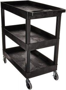 3 shelves storage utility cart byLuxor