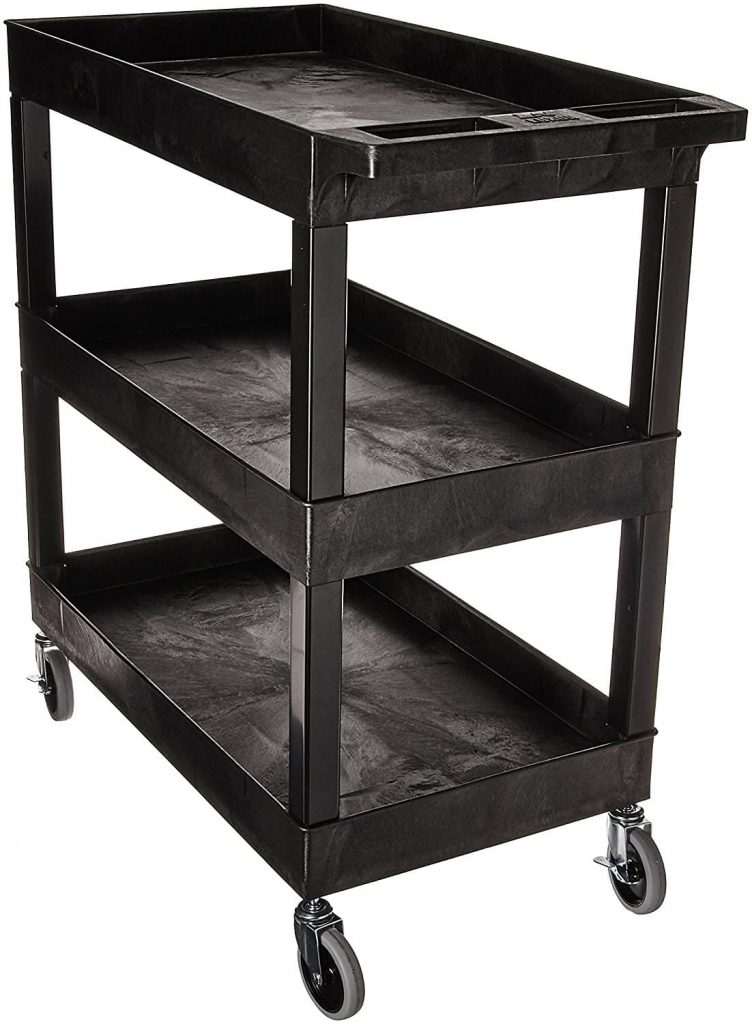 3 shelves storage utility cart by Luxor