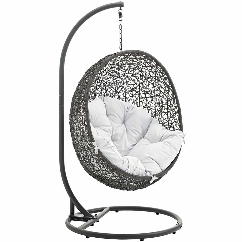 Modway Patio Swing Chair with Stand