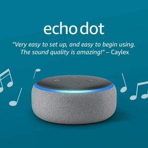 Amazon (3rd Gen) Echo Dot speaker Heather Gray with Alexa