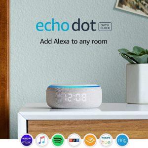 Amazon Echo Dot (3rd Gen) Sandstone Smart speaker with Alexa and clock