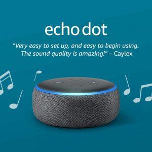 Amazon Echo Dot Smart speaker (3rd Gen) with Alexa - Charcoal