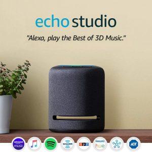 Amazon Echo Studio Alexa and 3D audio High-fidelity smart speaker