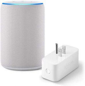 Amazon Echo bundle Sandstone (3rd Gen) with Amazon Smart Plug