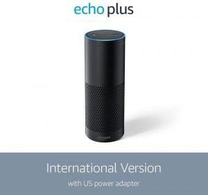 Amazon International Version Echo Plus speaker with built-in Hub, Black