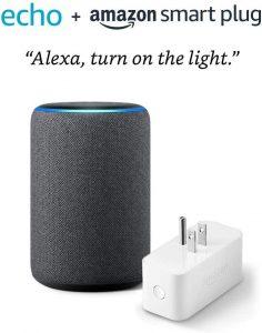 Amazon Smart Plug Echo (3rd Gen) bundle- Charcoal