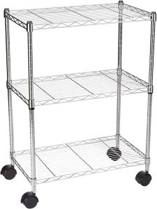 AmazonBasics 3-Shelf Organizer Wire Rack Heavy Duty Shelving Storage Unit