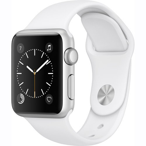 Apple Watch Series 1 Smartwatch, White Sports Band