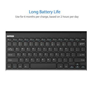 Arteck Wireless Keyboard Ultra-Slim Keyboard