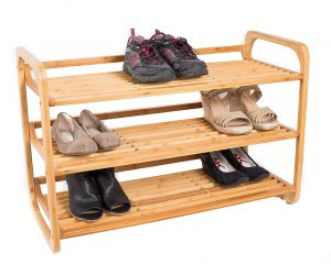 BirdRock Home 3-Tier Bamboo Shoe Rack