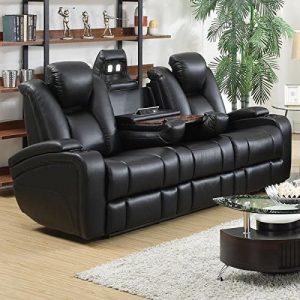 Delange Modern Power Motion Three-Seater Sofa