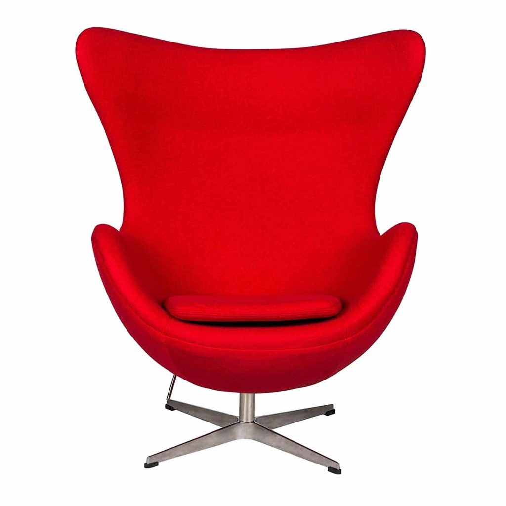 Egg Chair in Wool – Red
