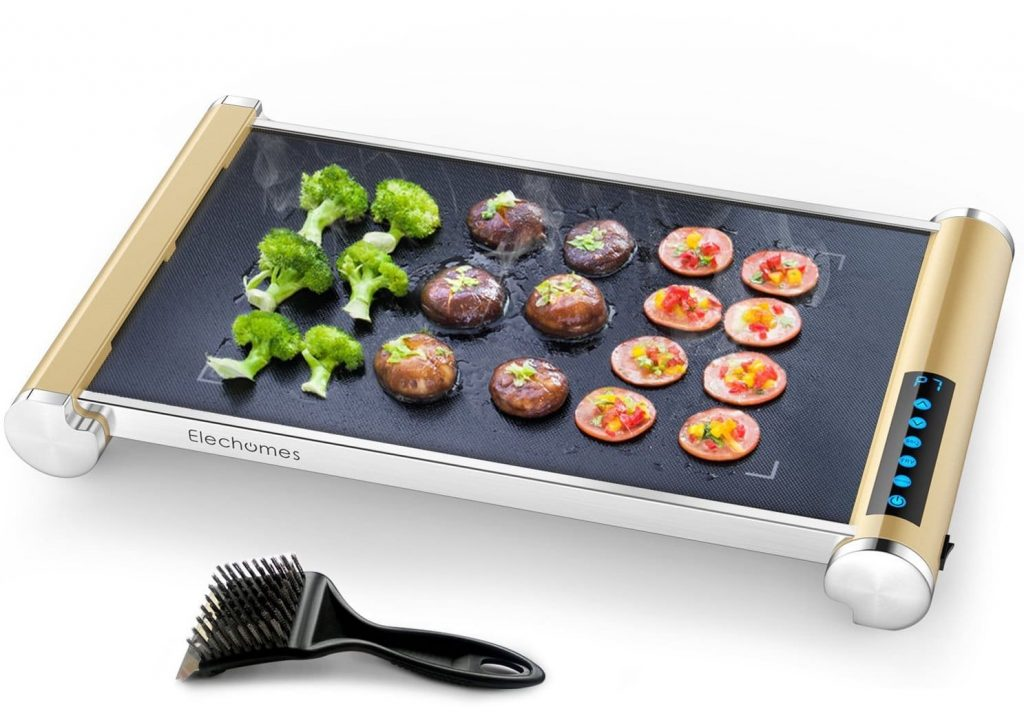 Elechomes Grill:Griddle with an LED Touch Control