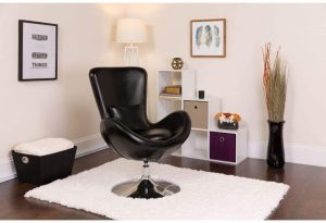 Flash Furniture Leather Egg Series Chair