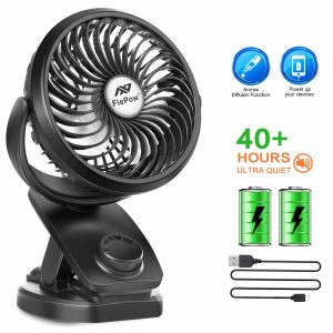 FlePow Battery Operated 2019 Upgrade Clip Fan