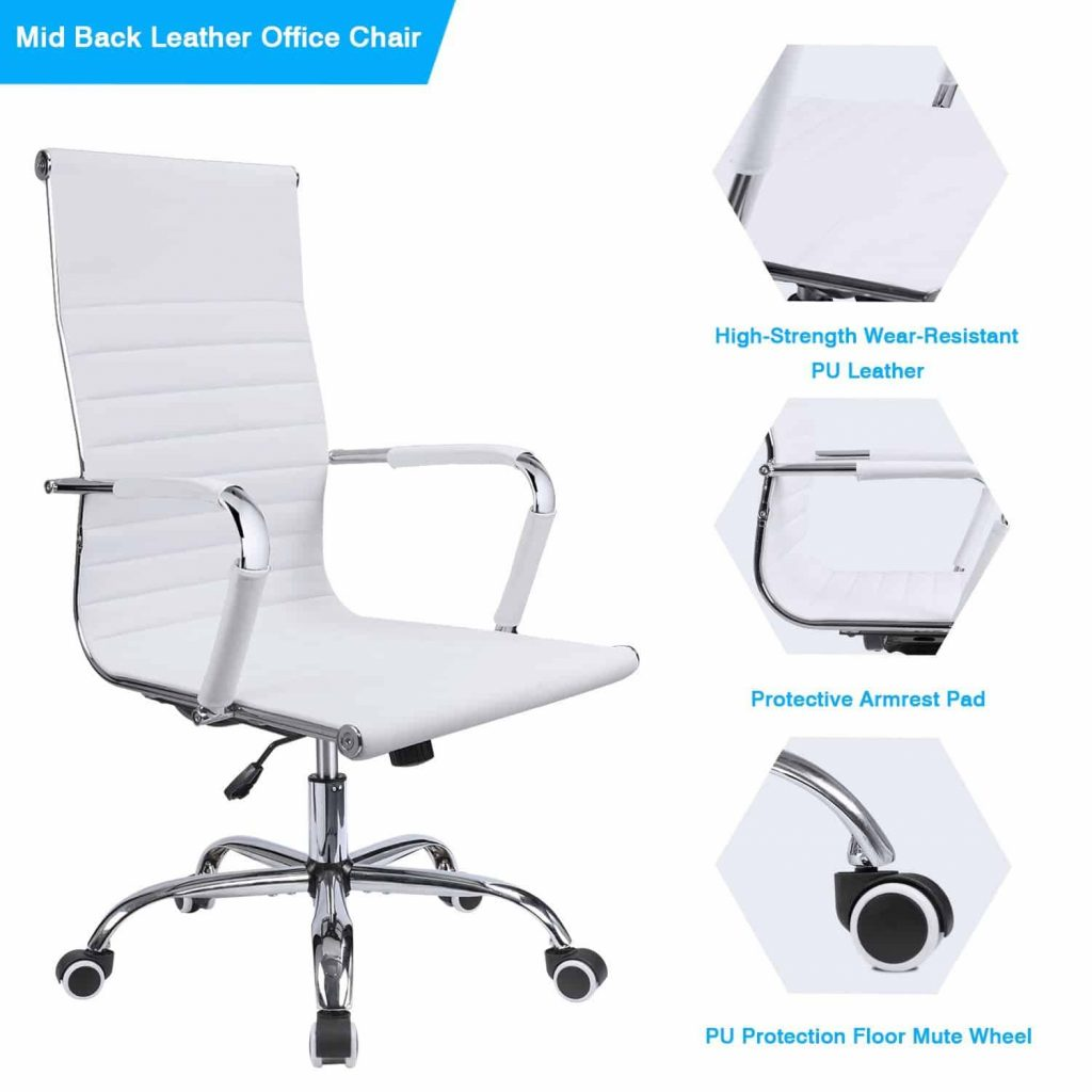 GTP office chair modern ribbed swivel