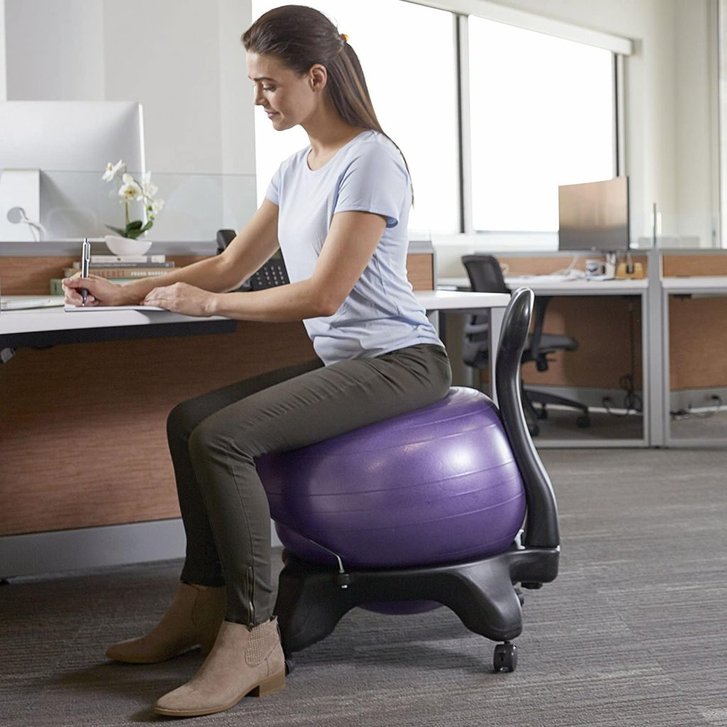 Gaiam balance yoga ball chair