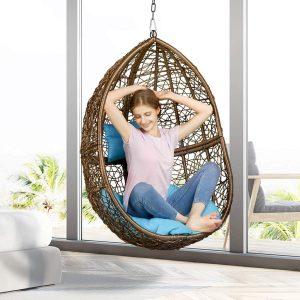 Greenstell Rattan Wicker Egg Hammock Chair