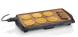 Hamilton -Beach 38518R- Durathon Ceramic Griddle, Black