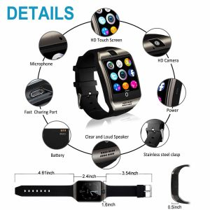 HauvieBluetooth SmartWatch with Camera TouchScreen